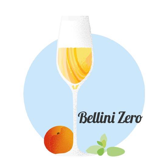 Alkoholfri drink Bellini Zero