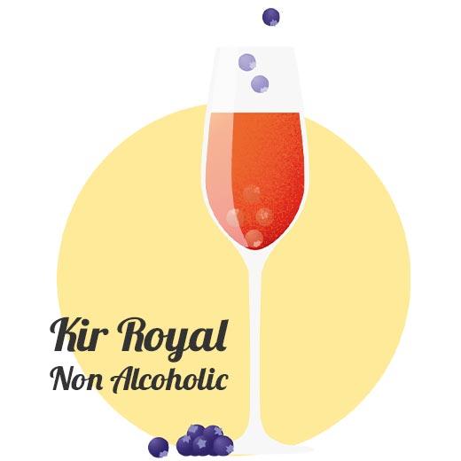 Alkoholfri drink Kir Royal Non Alcoholic