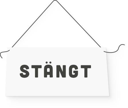 """En skylt som det står """"stängt"""" på i pappersstil"""
