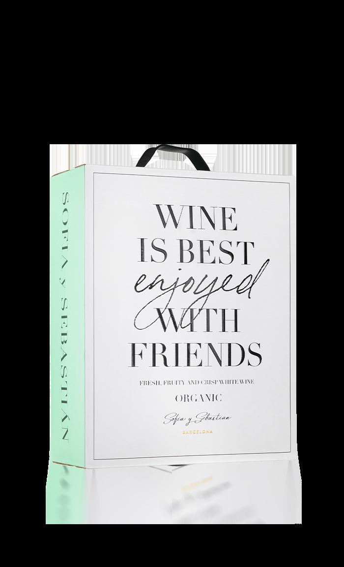 Sofia y Sebastian, Wine is Best Enjoyed with Friends Organic
